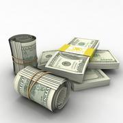 100 Notas de Dólar 3d model