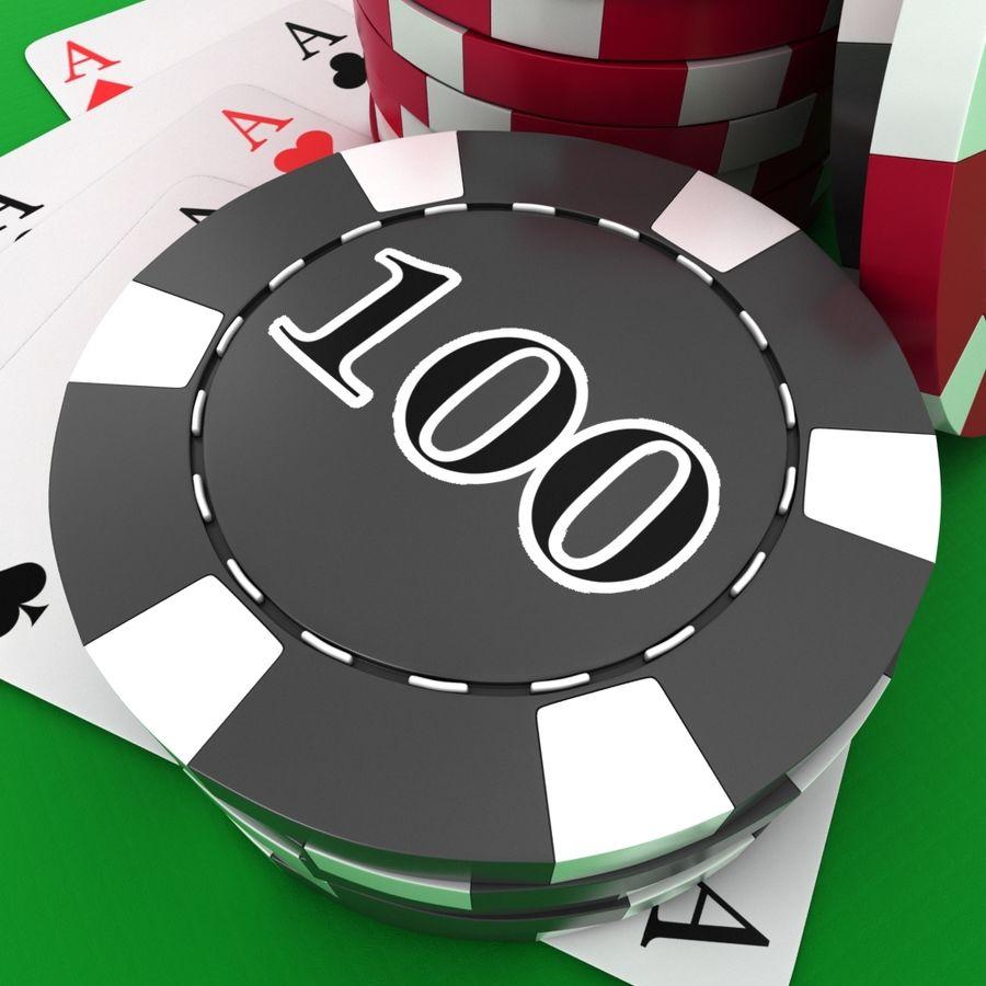 Grać w karty royalty-free 3d model - Preview no. 8