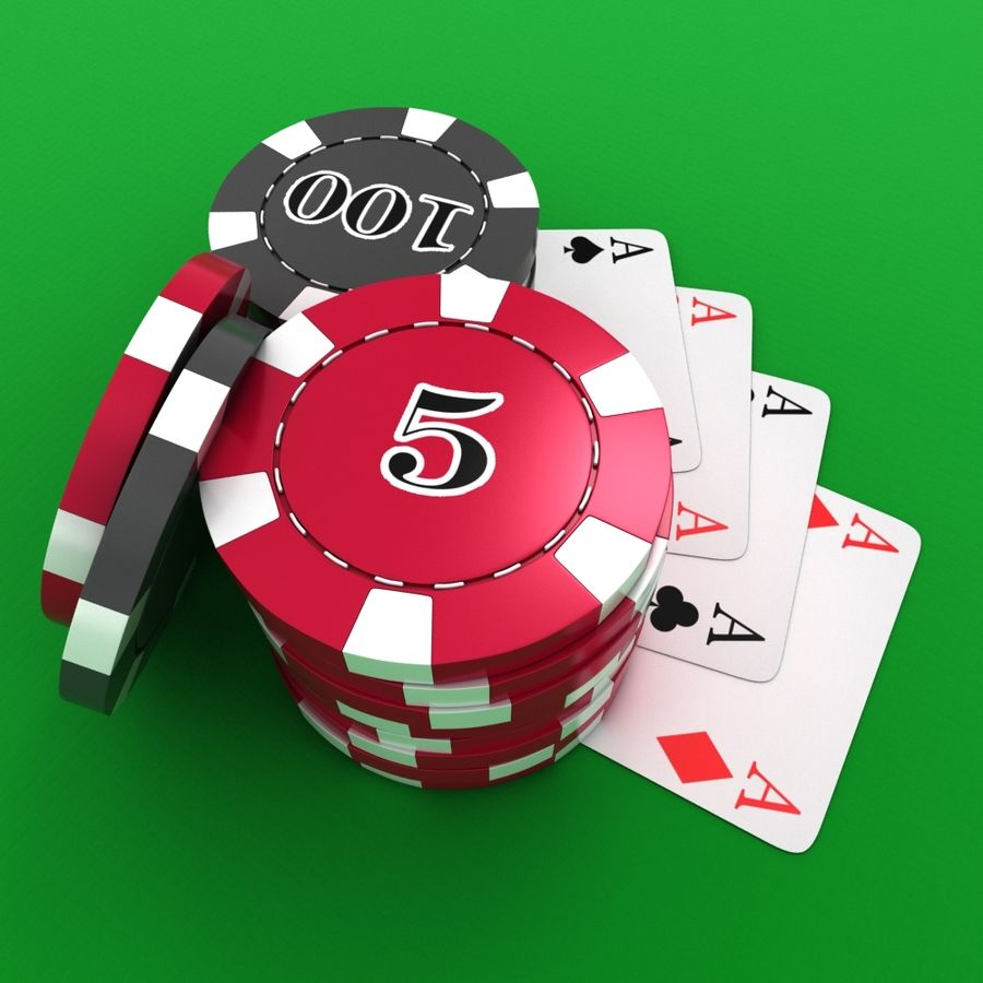 Grać w karty royalty-free 3d model - Preview no. 5
