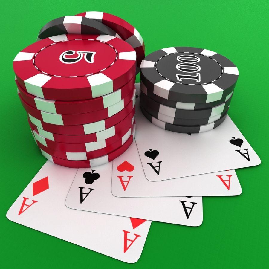 Grać w karty royalty-free 3d model - Preview no. 6