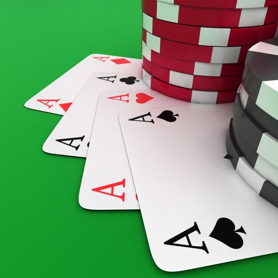 Grać w karty royalty-free 3d model - Preview no. 1