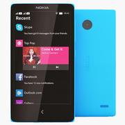 Nokia X blauw 3d model