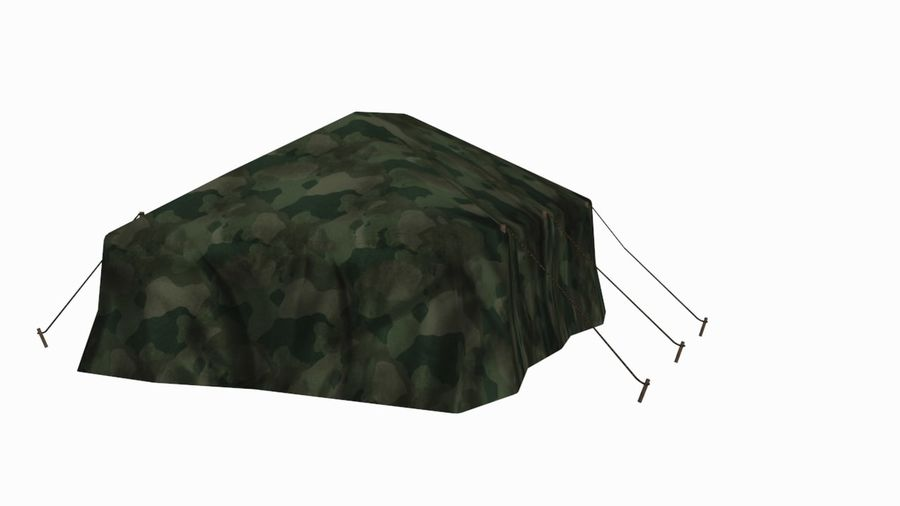 Tente militaire royalty-free 3d model - Preview no. 2