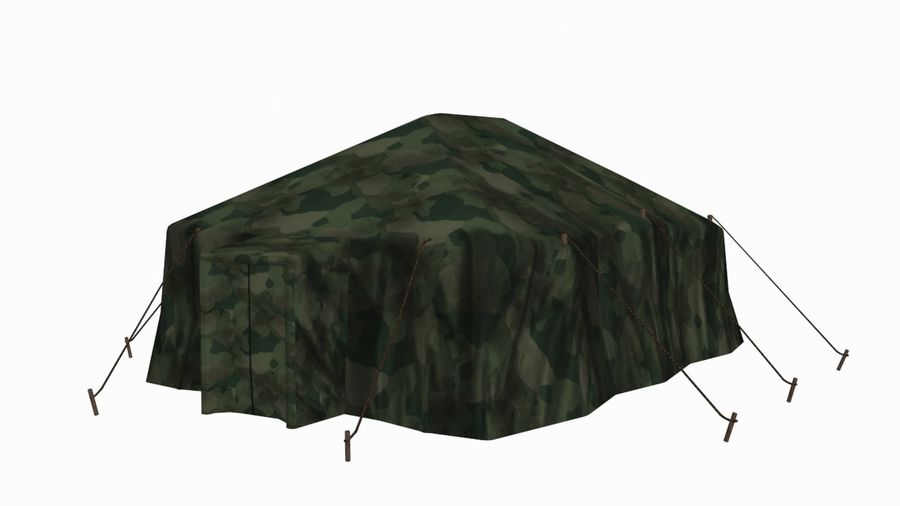 Tente militaire royalty-free 3d model - Preview no. 1