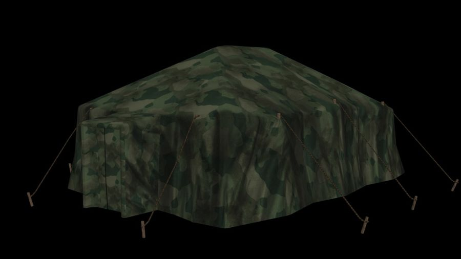 Tente militaire royalty-free 3d model - Preview no. 6