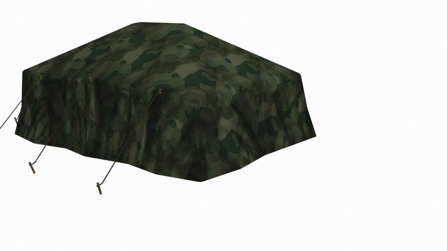 Tente militaire royalty-free 3d model - Preview no. 4