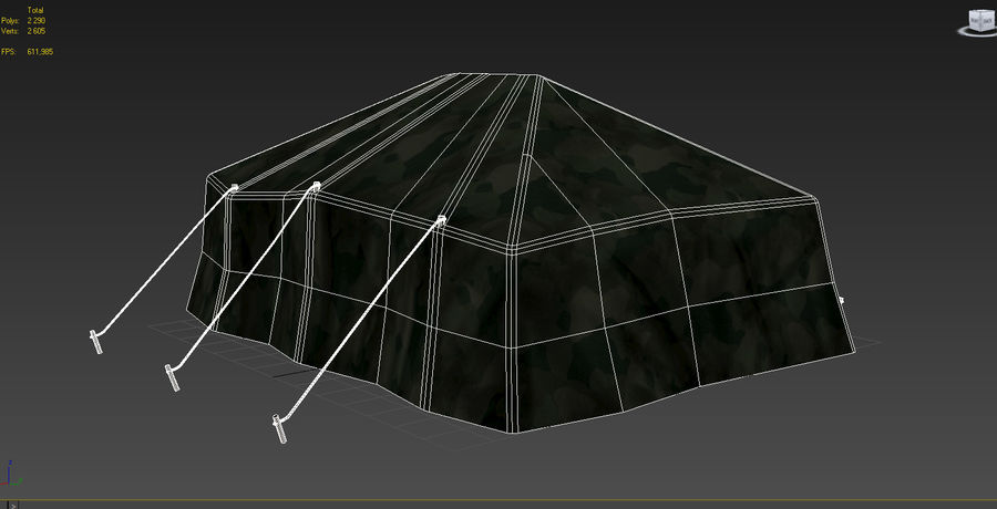 Tente militaire royalty-free 3d model - Preview no. 8