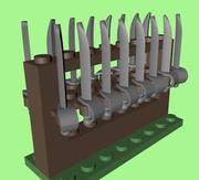 LEGO Cutlass Rack 3d model