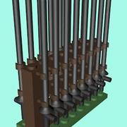 LEGO Lances rack 3d model