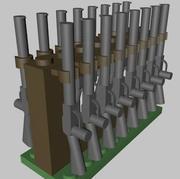Support à fusils / armes à feu LEGO 3d model