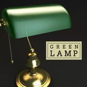 은행 책상 램프 3d model