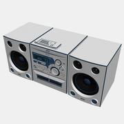Stereo met CD-speler, cassettespeler en AM / FM-radio 3d model