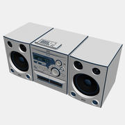 Stereo with CD Player, Tape Player, and AM / FM Radio 3d model