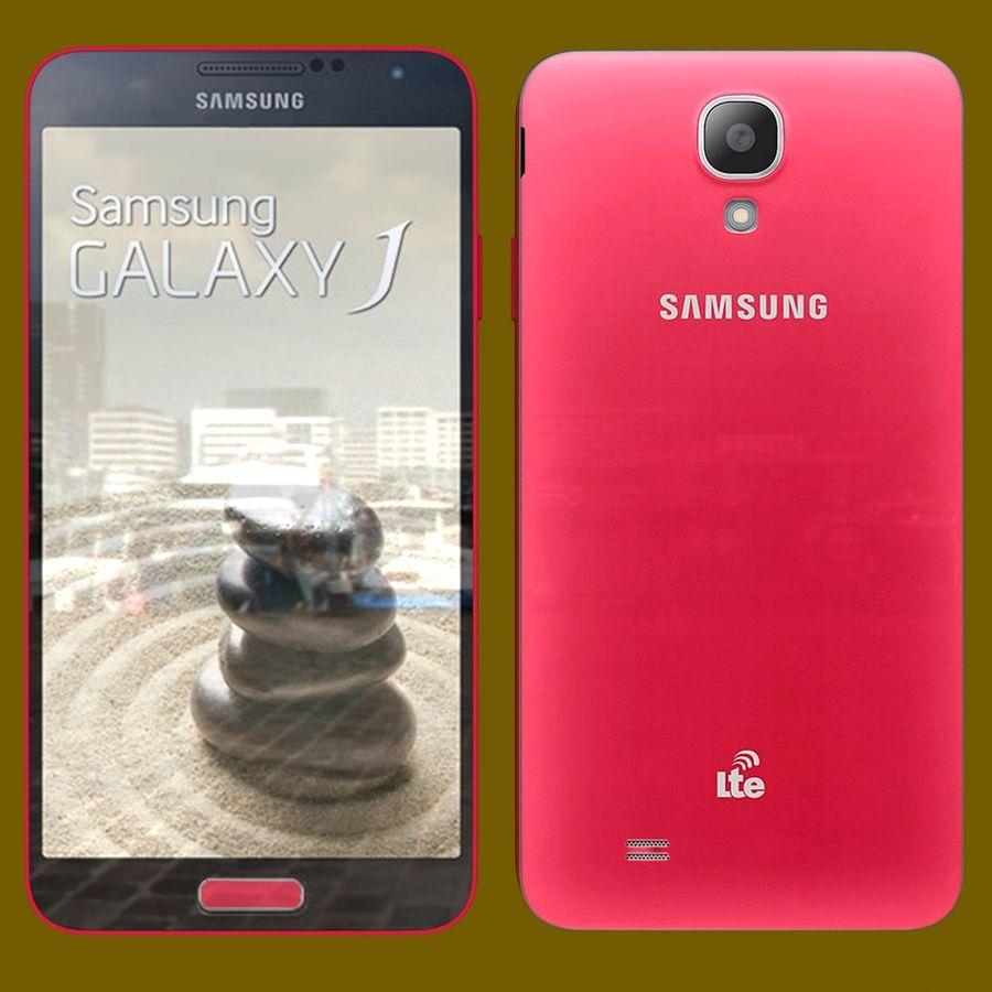 Samsung Galaxy J royalty-free 3d model - Preview no. 3