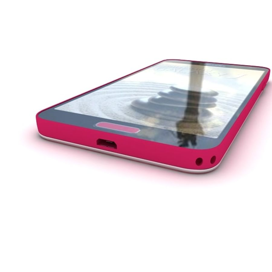 Samsung Galaxy J royalty-free 3d model - Preview no. 9
