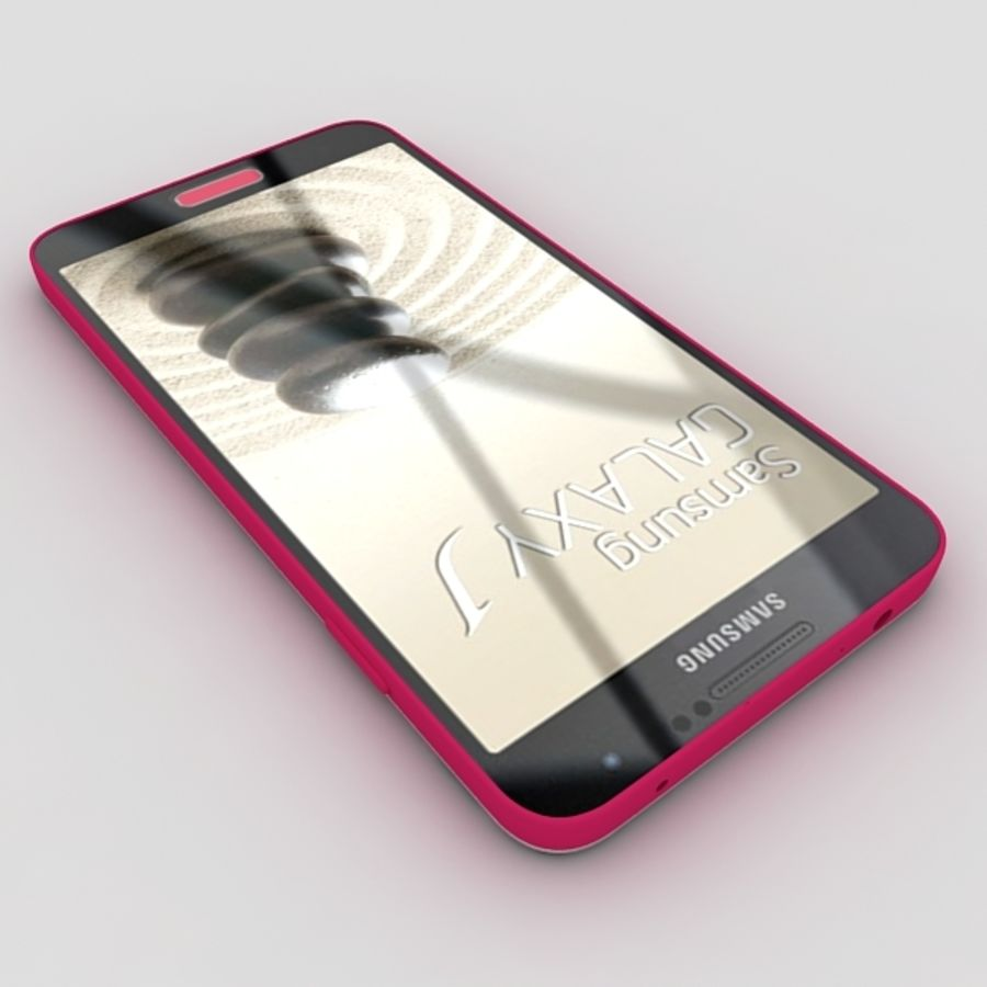 Samsung Galaxy J royalty-free 3d model - Preview no. 7