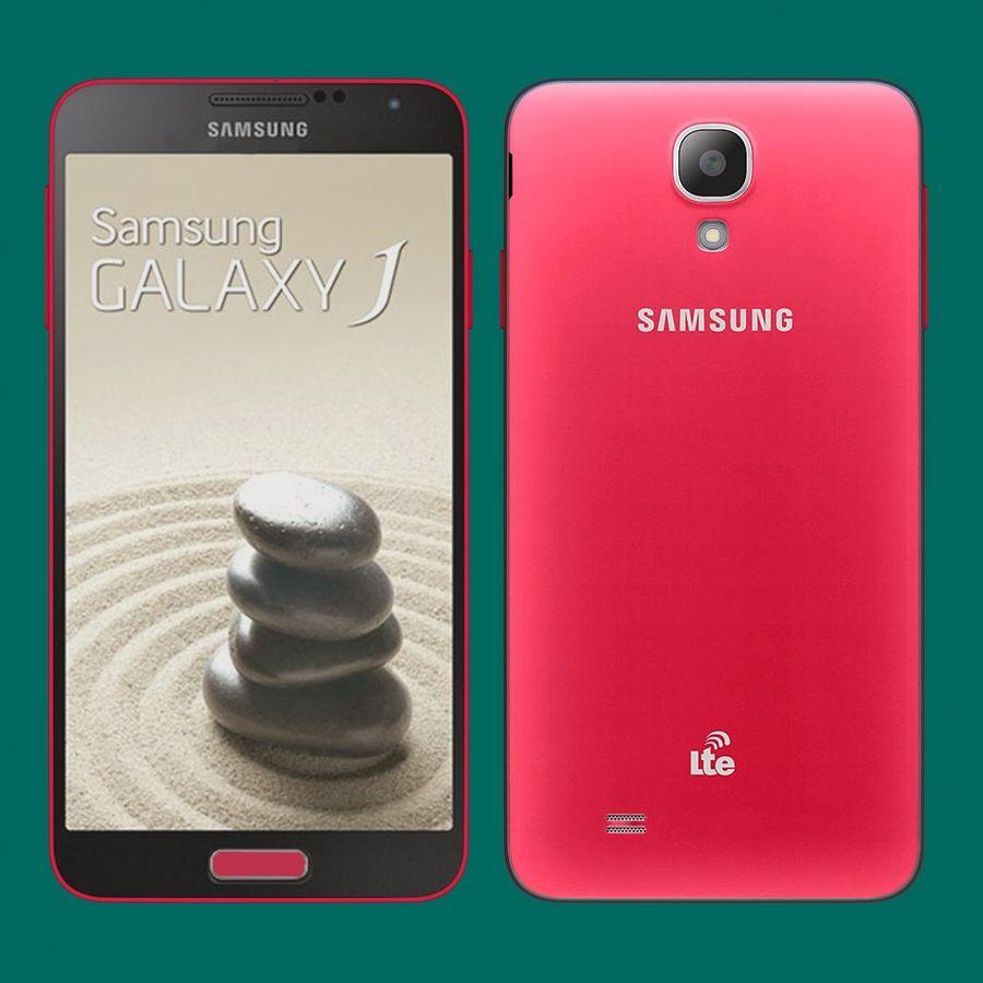 Samsung Galaxy J royalty-free 3d model - Preview no. 4