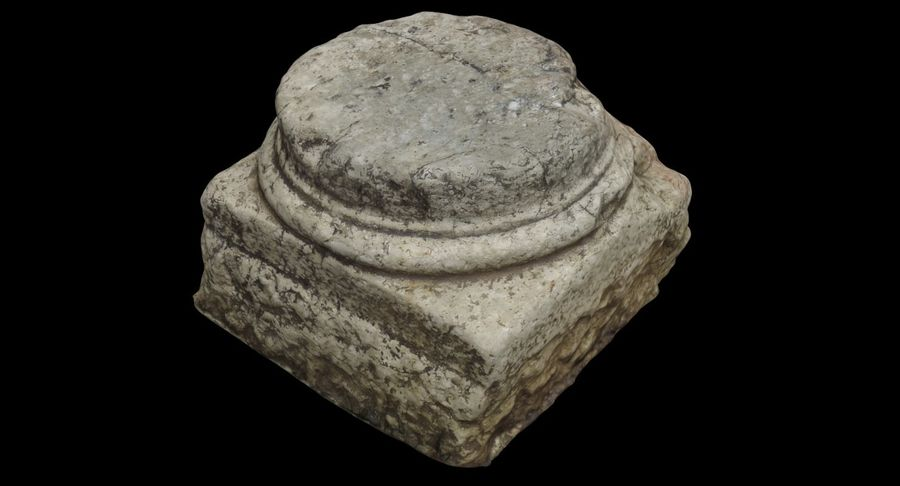 Roman Column base 1 royalty-free 3d model - Preview no. 11