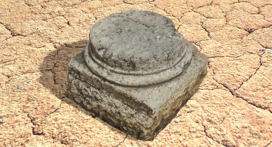 Roman Column base 1 royalty-free 3d model - Preview no. 10
