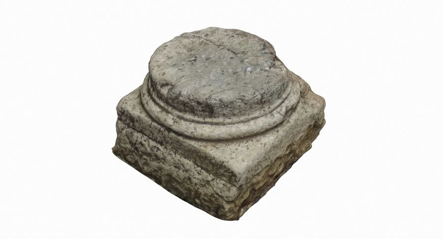Roman Column base 1 royalty-free 3d model - Preview no. 2