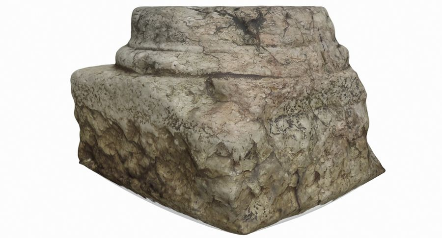 Roman Column base 1 royalty-free 3d model - Preview no. 3