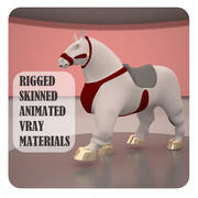 Animated horse 3d model