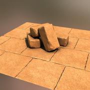 Набор камней пирамиды 3d model