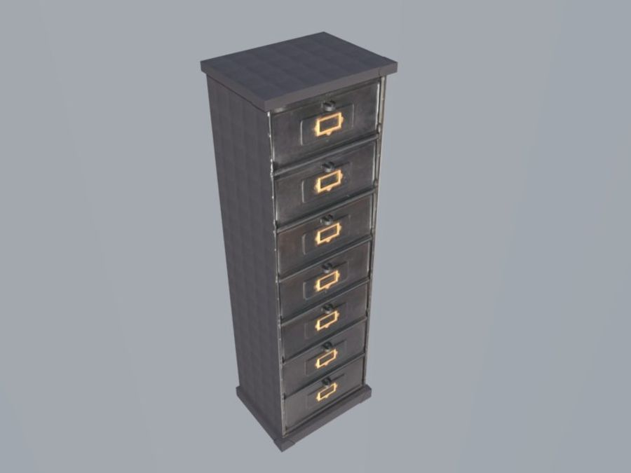 Filing Cabinet royalty-free 3d model - Preview no. 2