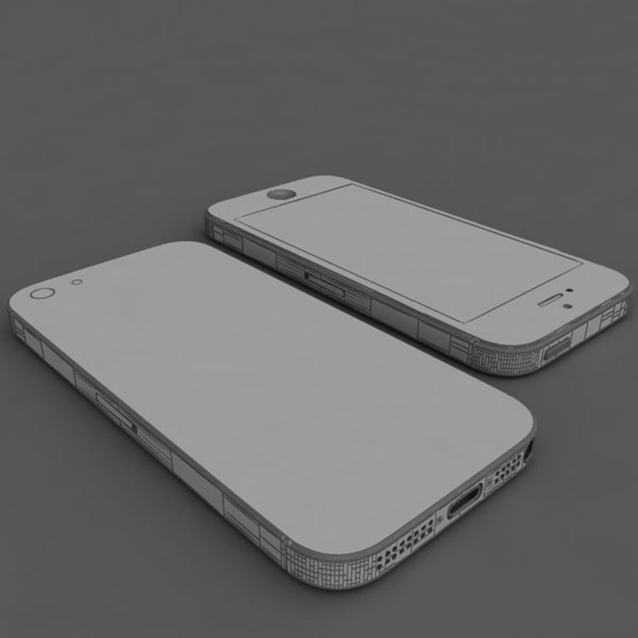 Apple iPhone 5 royalty-free 3d model - Preview no. 12