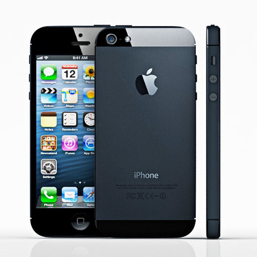 Apple iPhone 5 royalty-free 3d model - Preview no. 4