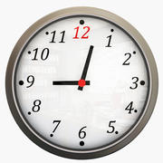 Horloge murale élégante 3d model