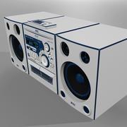 带CD播放器,磁带播放器和AM / FM收音机的立体声 3d model