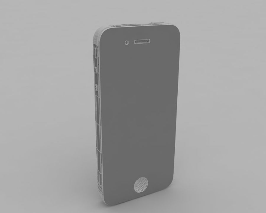 Apple iPhone 4 royalty-free 3d model - Preview no. 8