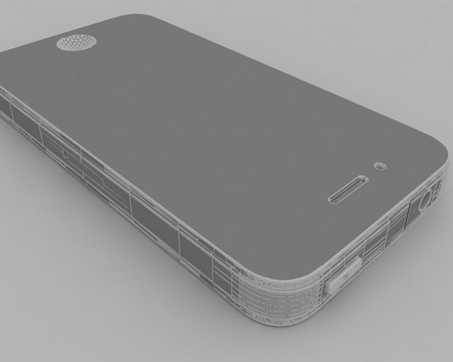 Apple iPhone 4 royalty-free 3d model - Preview no. 12