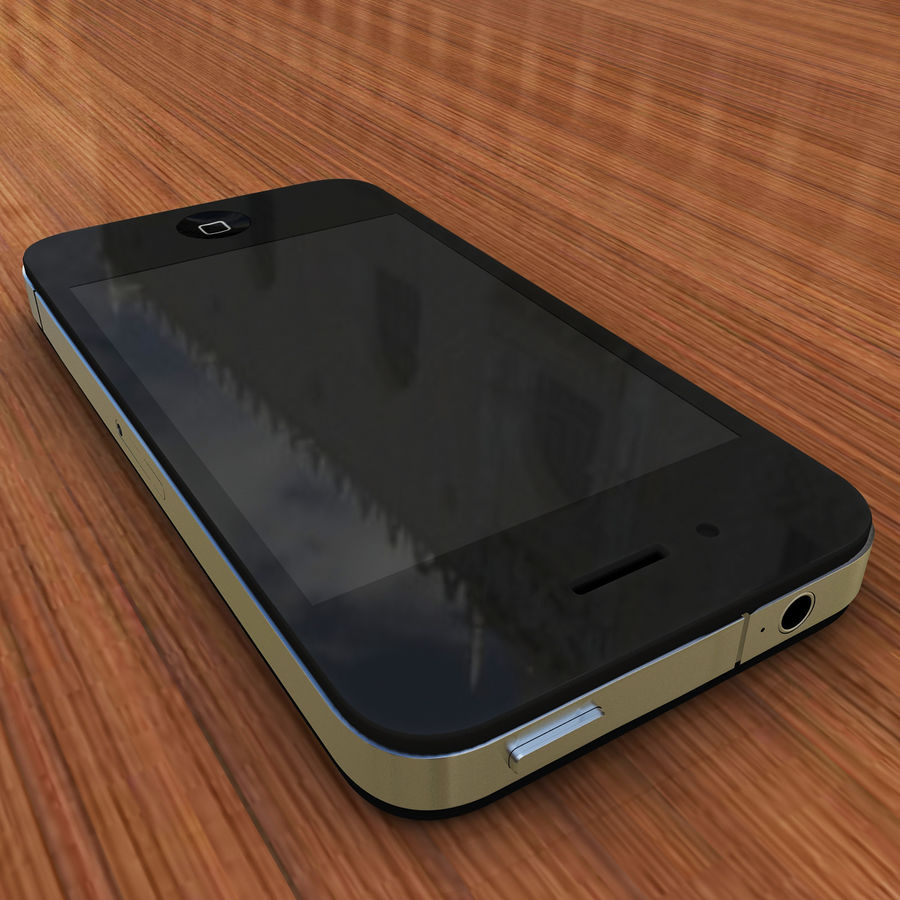 Apple iPhone 4 royalty-free 3d model - Preview no. 3