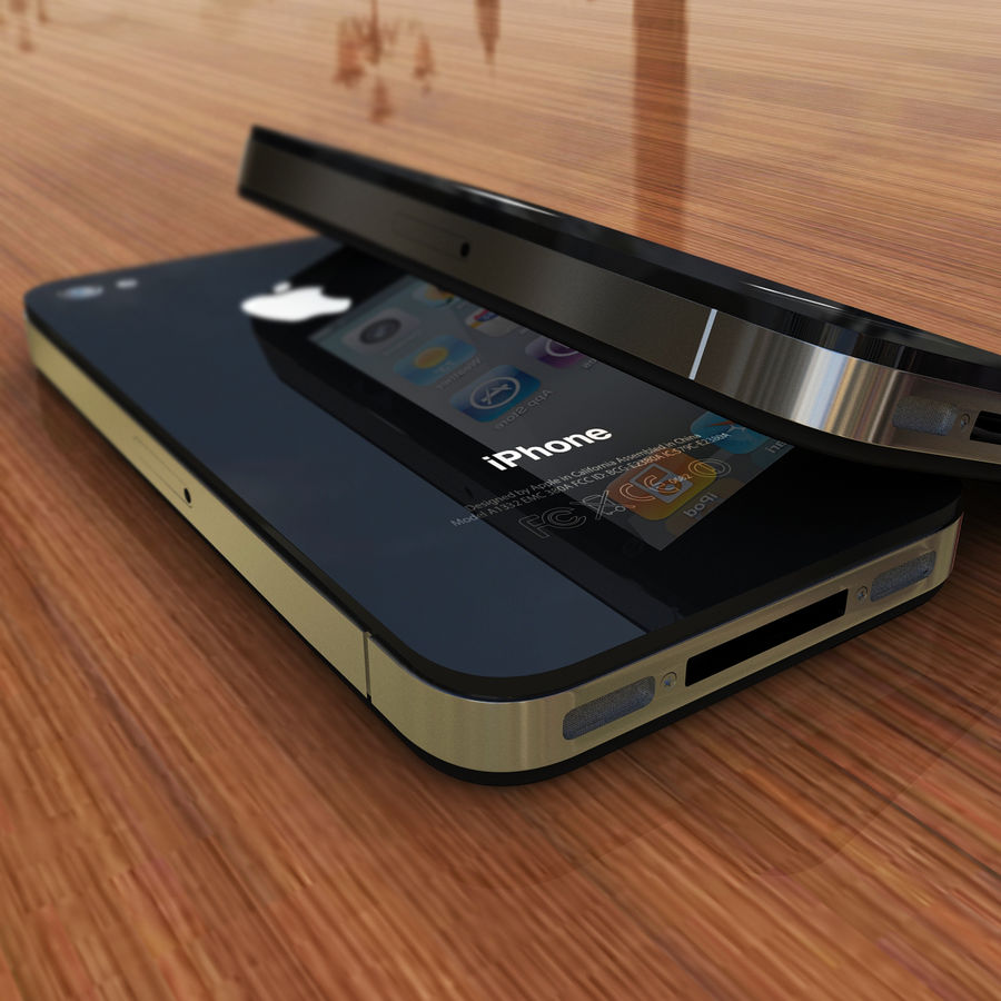 Apple iPhone 4 royalty-free 3d model - Preview no. 7