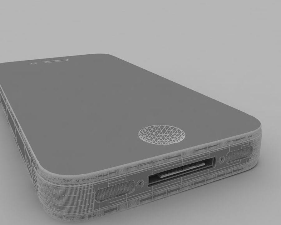 Apple iPhone 4 royalty-free 3d model - Preview no. 11