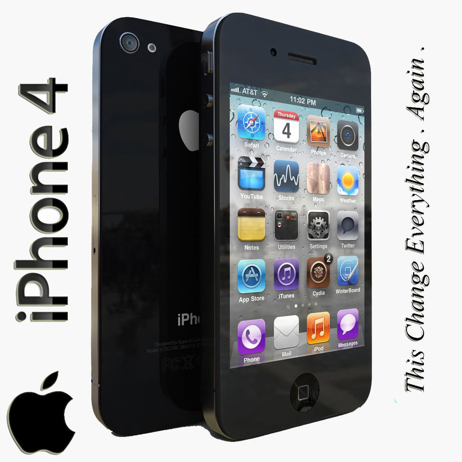 Apple iPhone 4 royalty-free 3d model - Preview no. 1