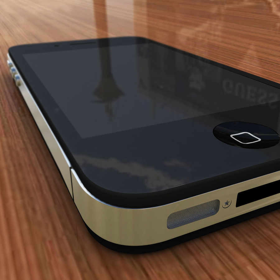 Apple iPhone 4 royalty-free 3d model - Preview no. 4