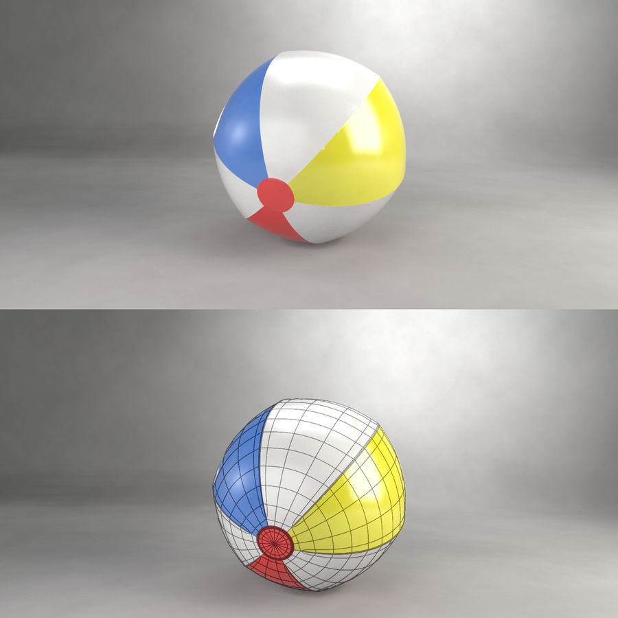 Beachball royalty-free 3d model - Preview no. 4