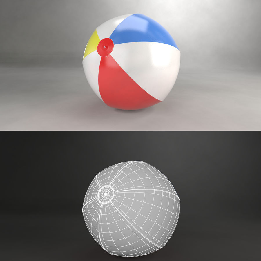 Beachball royalty-free 3d model - Preview no. 2