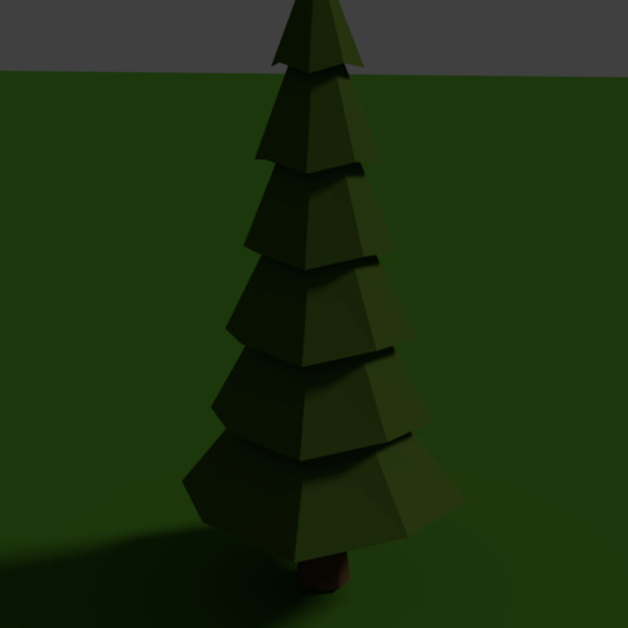 Tree Low Polly royalty-free 3d model - Preview no. 2