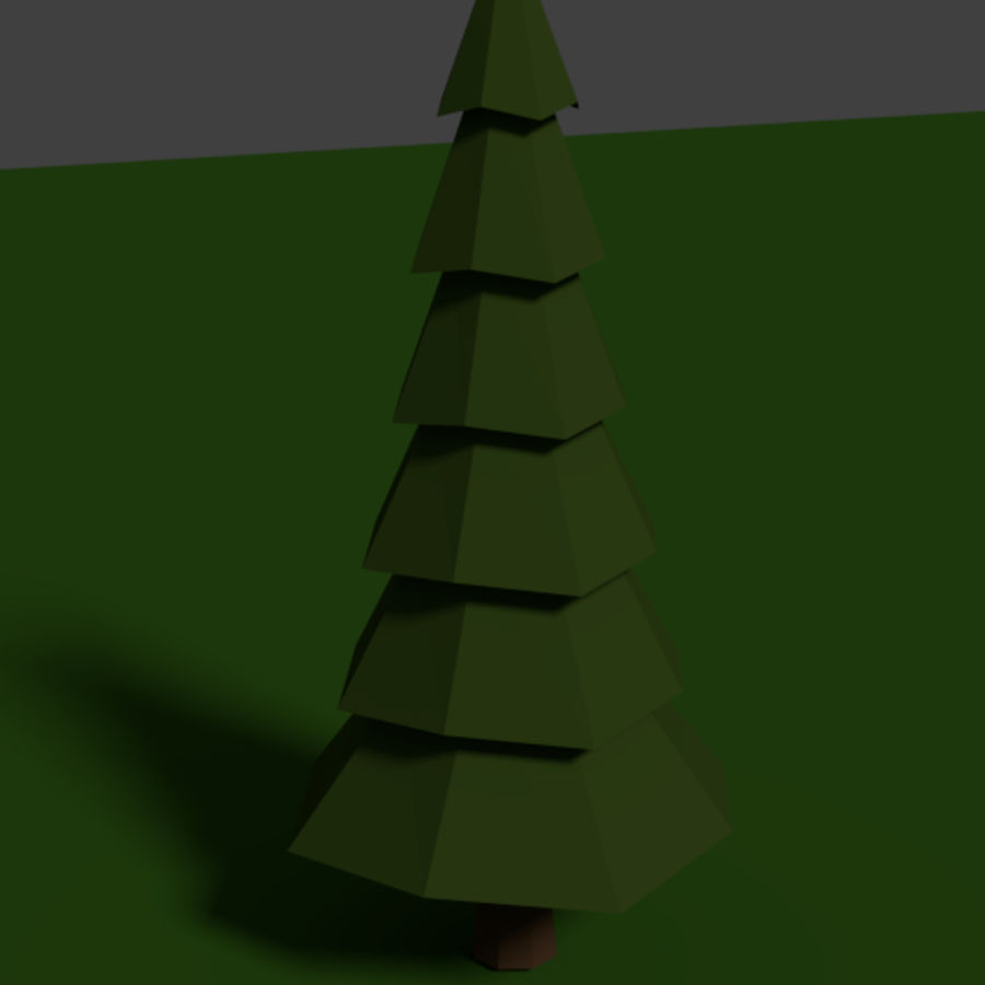 Tree Low Polly royalty-free 3d model - Preview no. 1