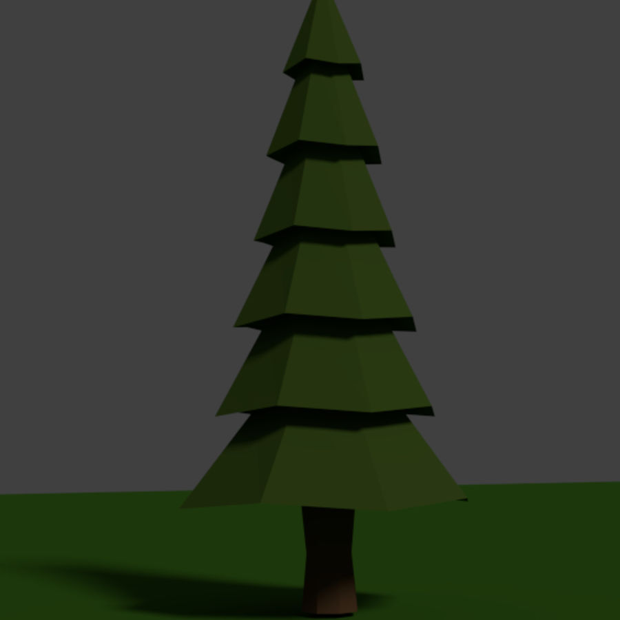 Tree Low Polly royalty-free 3d model - Preview no. 5