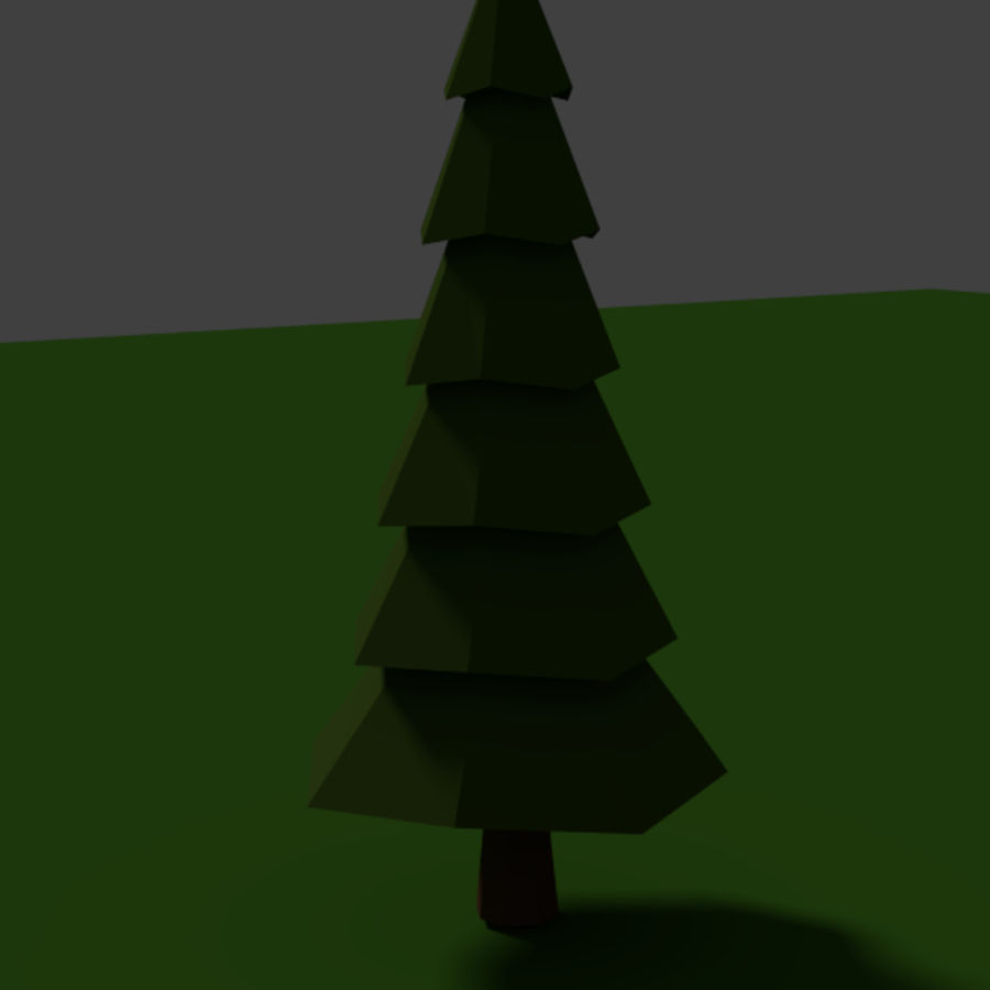 Tree Low Polly royalty-free 3d model - Preview no. 3