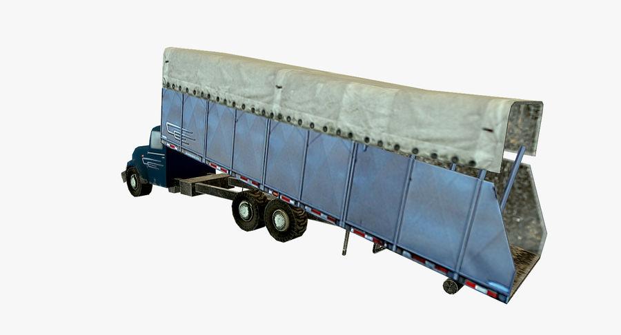 Ciężarówka z modułem Low Poly royalty-free 3d model - Preview no. 4