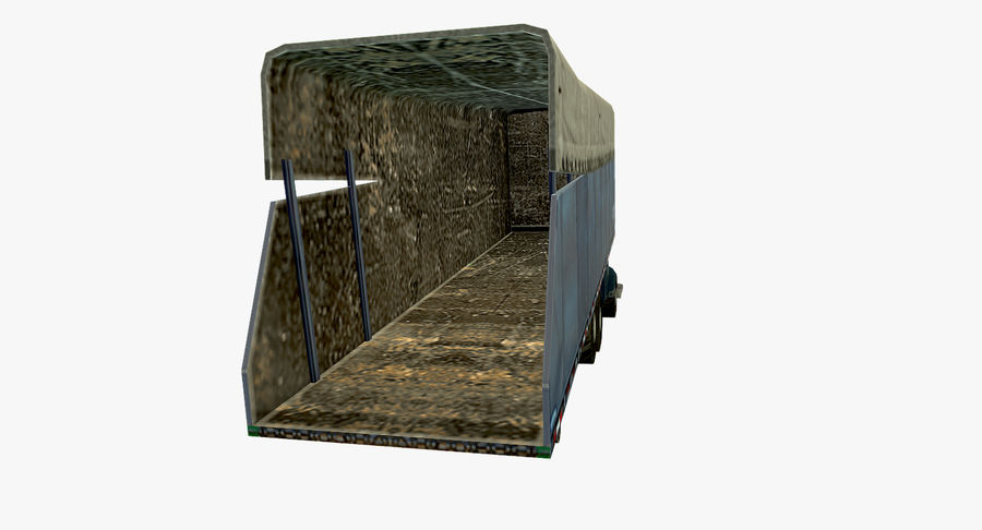 Ciężarówka z modułem Low Poly royalty-free 3d model - Preview no. 5