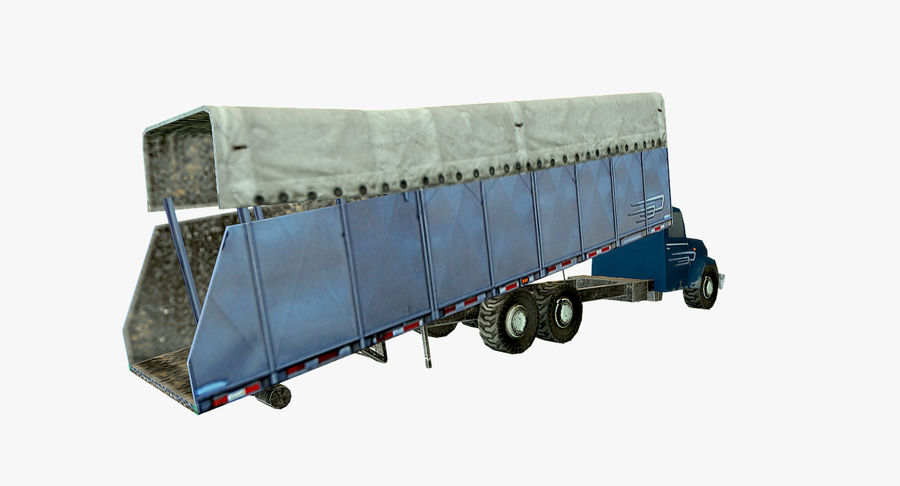 Ciężarówka z modułem Low Poly royalty-free 3d model - Preview no. 6
