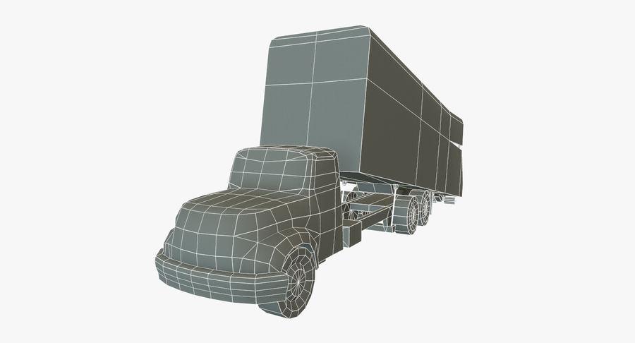 Ciężarówka z modułem Low Poly royalty-free 3d model - Preview no. 11