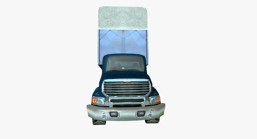 Ciężarówka z modułem Low Poly royalty-free 3d model - Preview no. 8